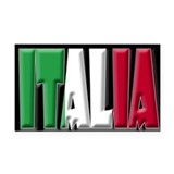 Word Art Italia Rectangle Car Magnet