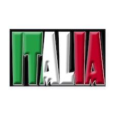 Word Art Italia Rectangle Car Magnet