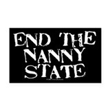 Nanny State Rectangle Car Magnet