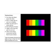 Equality Rainbow Rectangle Car Magnet
