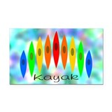 Rainbow of Kayaks BG Rectangle Car Magnet