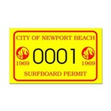 Newport Surfboard Permit 69' Rectangle Car Magnet