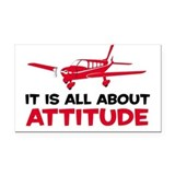 Attitude A Rectangle Car Magnet