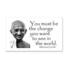 - Be the change... Rectangle Car Magnet