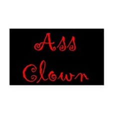 Ass Clown Rectangle Car Magnet