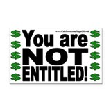 NOT Entitled (Rectangle Car Magnet)