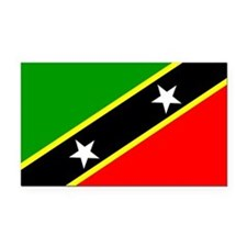 Saint Kitts and Nevis Rectangle Car Magnet
