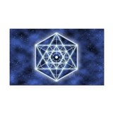 Celestial Blue Star Rectangle Car Magnet