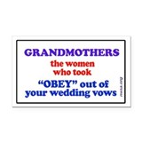 GRANDMOTHERS Rectangle Car Magnet