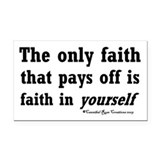 Real Faith Rectangle Car Magnet