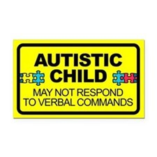 Autism Child Car Decal Rectangle Car Magnet