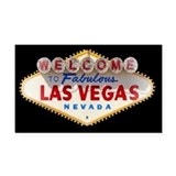 Las Vegas Rectangle Car Magnet