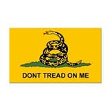 Gadsden Dont Tread Rectangle Car Magnet