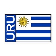 Uruguayan Rectangle Car Magnets Rectangle Car Magn
