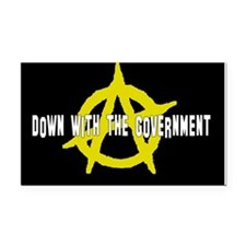 Anti-Gov't Rectangle Car Magnet