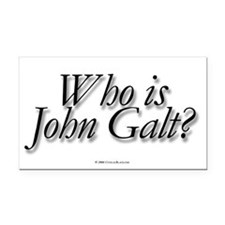 Who is John Galt Rectangle Car Magnet