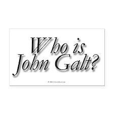 Who is John Galt Rectangle Car Magnet