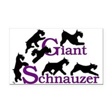Giant schnauzer Rectangle Car Magnet