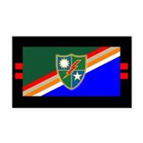 2nd Ranger Battalion Flash Rectangle Car Magnet