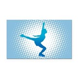 Figure Skating Rectangle Car Magnet