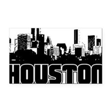 Houston Skyline Rectangle Car Magnet