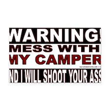 Warning Camper Rectangle Car Magnet