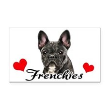 Love Frenchies - Brindle Rectangle Car Magnet