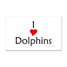I Love Dolphins Rectangle Car Magnet
