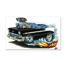 1956 Chevy 150/210 Black Car Rectangle Car Magnet