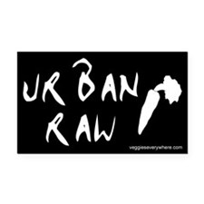 Urban Raw Rectangle Car Magnet