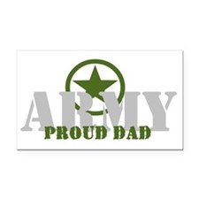 Proud Army Dad Rectangle Car Magnet