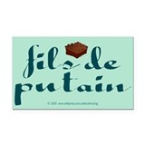 Brownie, fils de putain. Rectangle Car Magnet
