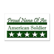 Nana of an American Soldier Rectangle Car Magnet