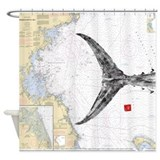 Tuna tail on mass bay Shower Curtain