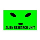 Alien Research Unit Rectangle Car Magnet