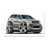 Jeep Cherokee Silver Car Rectangle Car Magnet