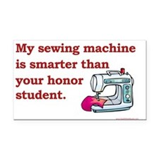 Sewing Machine/Honor Student Rectangle Car Magnet