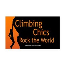 Climbing Chics Rectangle Car Magnet