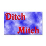 Ditch Mitch Rectangle Car Magnet