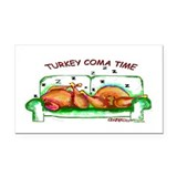 Turkey Coma Rectangle Car Magnet