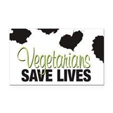Vegetarians Save Lives Rectangle Car Magnet