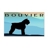 Blue Mountains Bouvier Dog Rectangle Car Magnet
