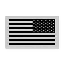 Subdued Reverse US Flag Tactical Rectangle Car Mag