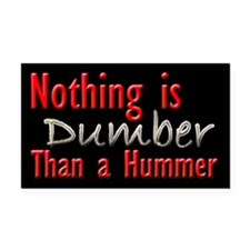 Dumber Hummer Rectangle Car Magnet