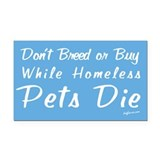 Don't Breed or Buy Cat&Dog Rectangle Car Magnet