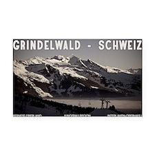Grindelwald Fog Rectangle Car Magnet