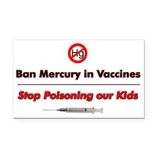 Ban Mercury in Vaccines (Rectangle Car Magnet)