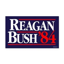 Reagan Bush '84 Campaign Rectangle Car Magnet