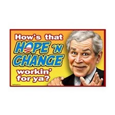 Bush - Hope and Change? Rectangle Car Magnet