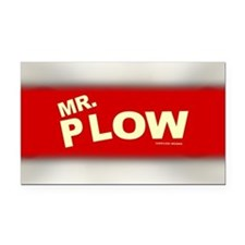Mr Plow Rectangle Car Magnet